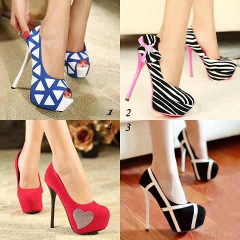 new trend high heel girls shoes 2014